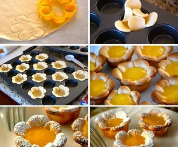 Flower Shaped Lemon Tarts 1