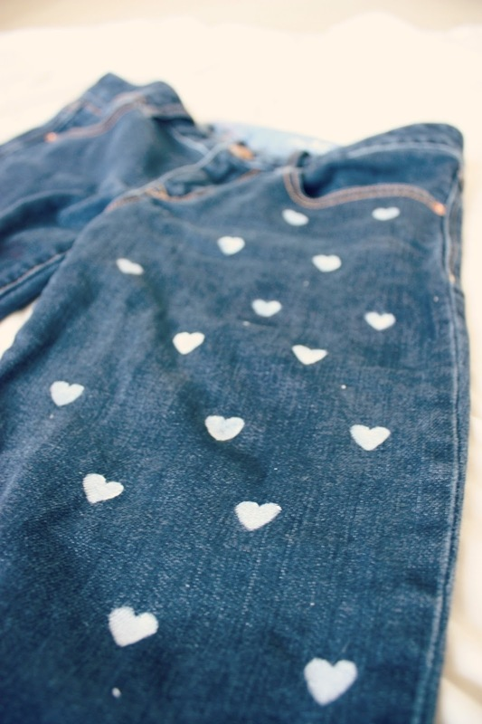 Heart Print Denim - DIY 3