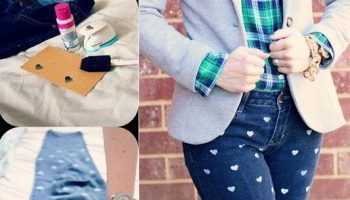 Heart Print Denim – DIY