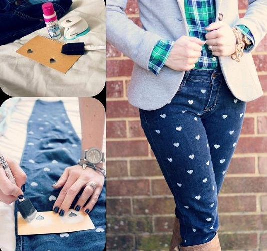 Heart Print Denim - DIY
