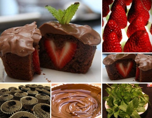 Chocolate Cupcakes With Strawberry Inside Alldaychic