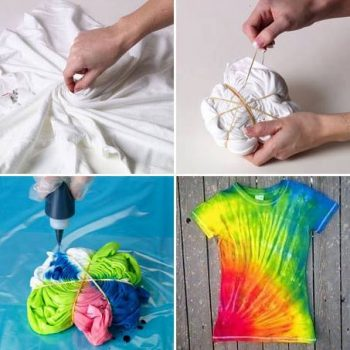 Tie-Dye Swirl Technique for t-shirt