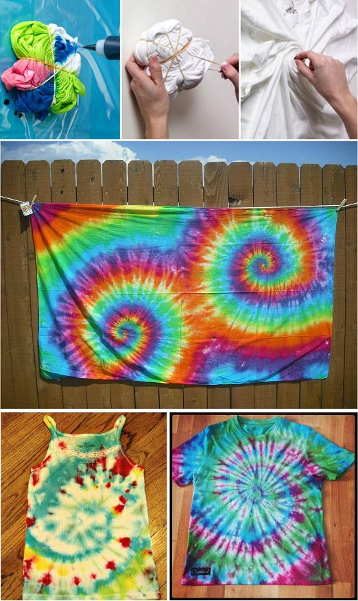 Tie dye twirl technique alldaychic - Technique tie and dye ...