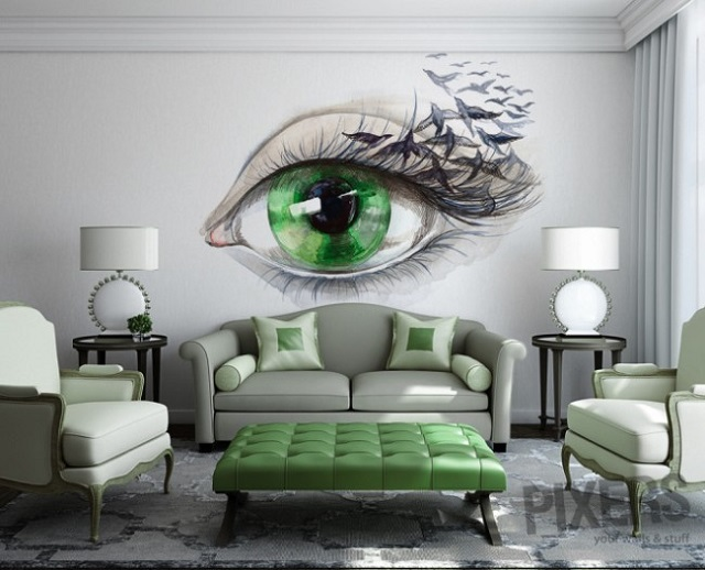Phantasmagories wall murals by pixers alldaychic - Wall decor painting ideas ...