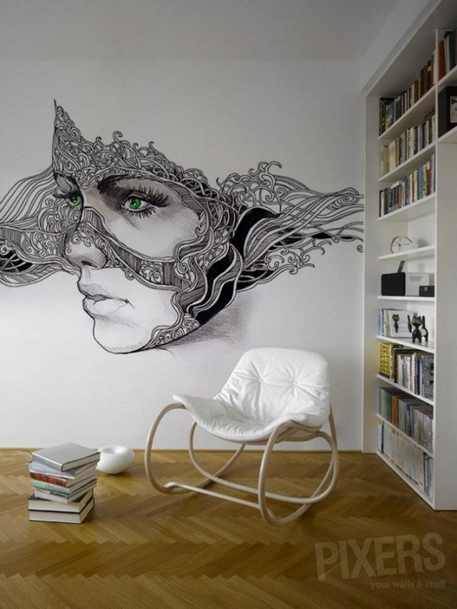 phantasmagories wall murals by pixers alldaychic. Black Bedroom Furniture Sets. Home Design Ideas