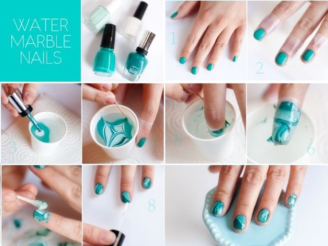 Water Marble Nails - AllDayChic