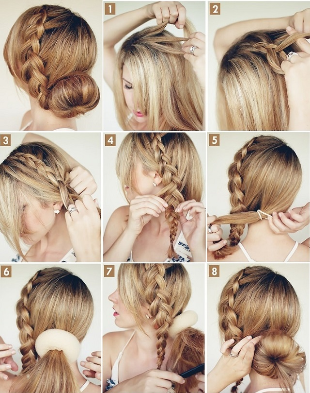 Magnificent Easy Hair Bun With Braid Braids Hairstyle Inspiration Daily Dogsangcom