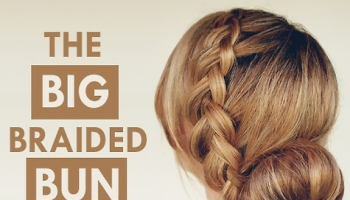 big braided bun, elegant hairstyle