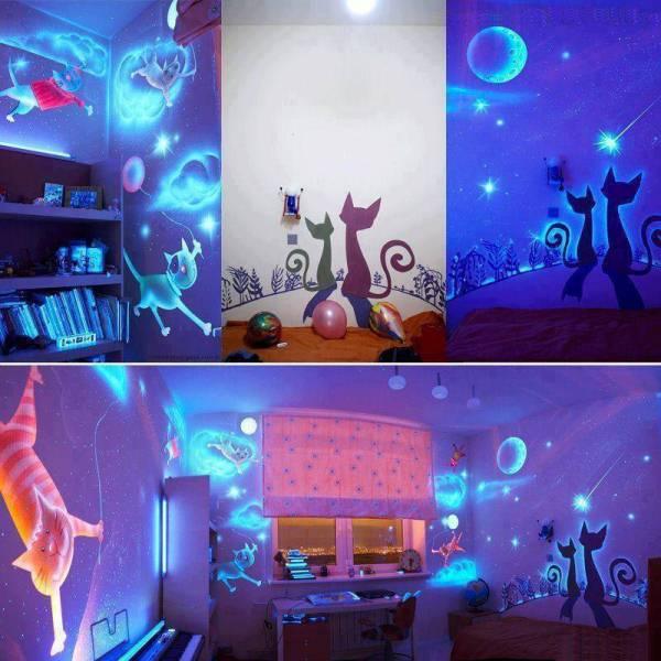 Black Light Wallpaper For Bedroom: Glow In The Dark Paint