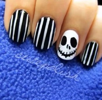 halloween Nail Art – Jack Skellington