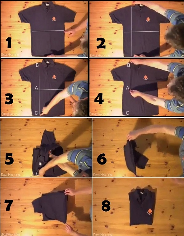 how to fold a t-shirt in less than 2 seconds