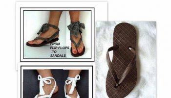 turn flip flops into sandals