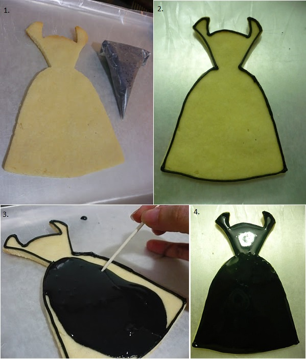 Black Dress Cookies 1
