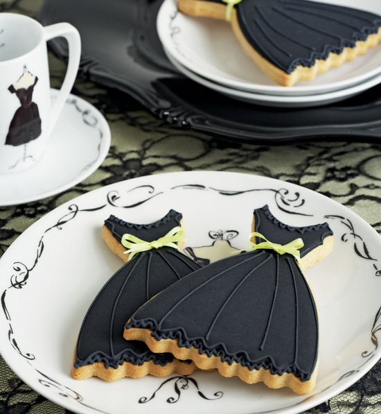 Black Dress Cookies