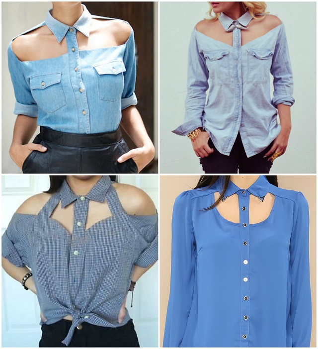 Chic Look With A Cut Out Shirt Diy Alldaychic