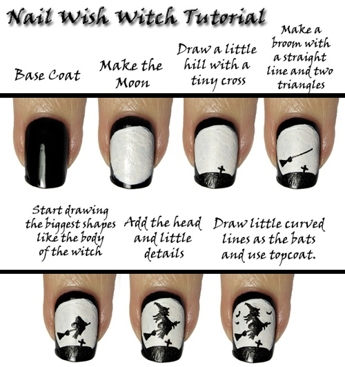 DIY Witch Nail Design