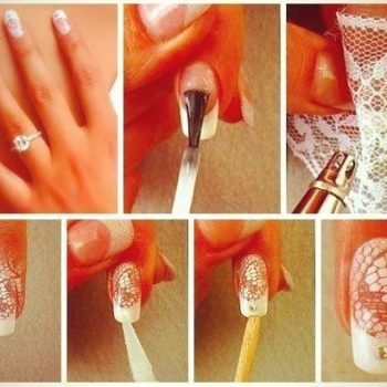 DIY lace nail design