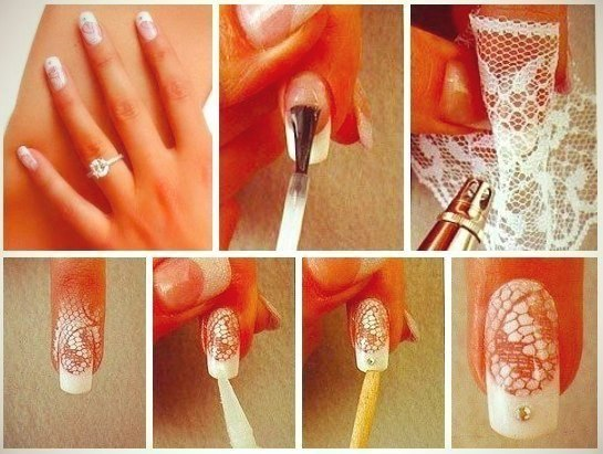 Lace Nail Design - DIY