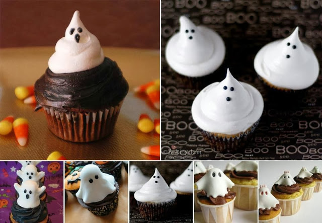 Ghost Cupcakesn for Halloween