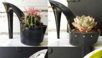 High heel flower pots