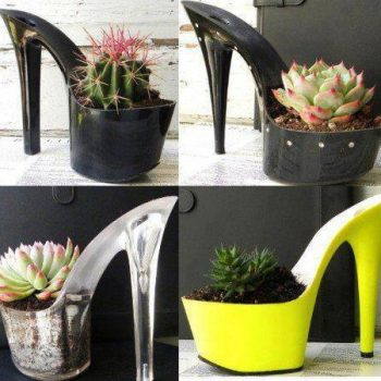 High heel flower pots