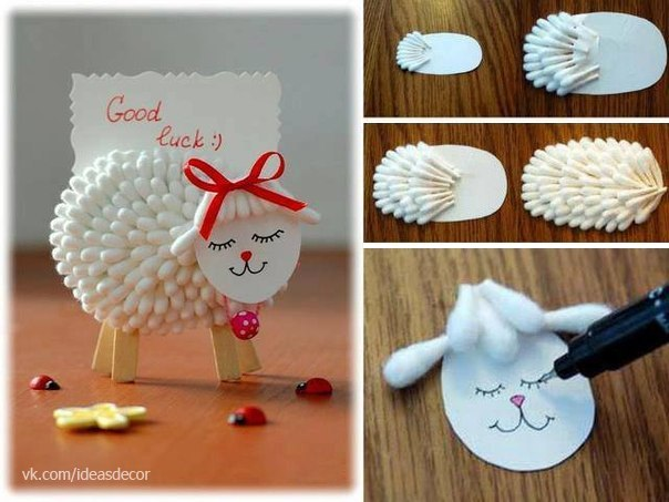 Lamb Holder for Notes from cotton swabs