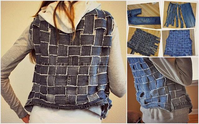 Reuse Old Jeans into a vest