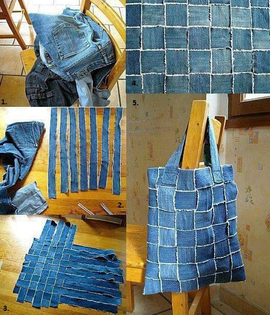 Reuse Old Jeans to Make a New Handbag - DIY