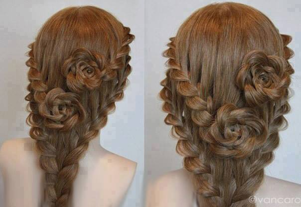 Rose Bud Flower Braid Hairstyle Tutorial Alldaychic