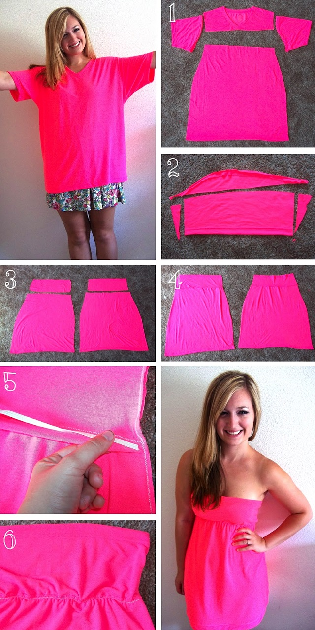 how to turn a t shirt into a dress diy alldaychic
