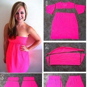 Shirt-Turned-Into-a-Dress