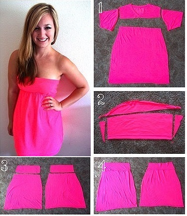 How to Turn a T-shirt into a Dress - DIY - AllDayChic