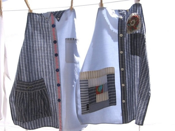 Turn Your Old Shirt into a Fancy Looking Apron - DIY
