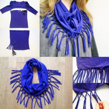 Turn your old t-shirt into a scarf