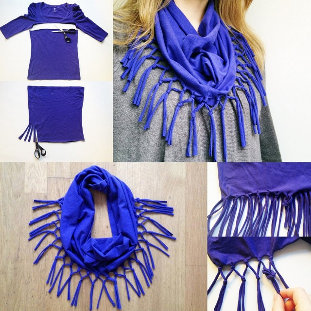 turn an t shirt into a scarf diy alldaychic