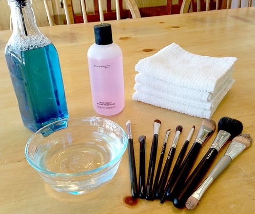 cleaning makeup brushes  diy  alldaychic