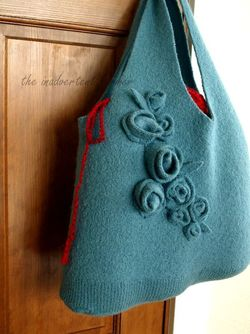 old sweater handbag 1