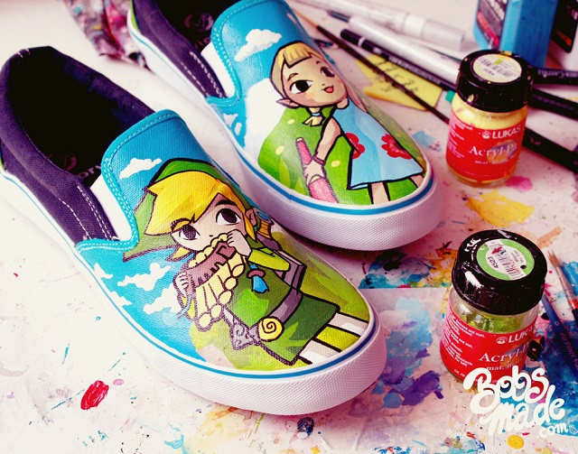 painted shoes