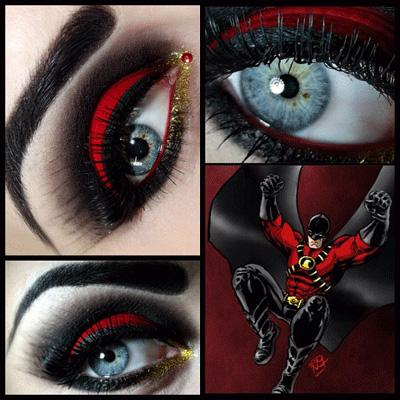 comics inspired eye makeup  alldaychic