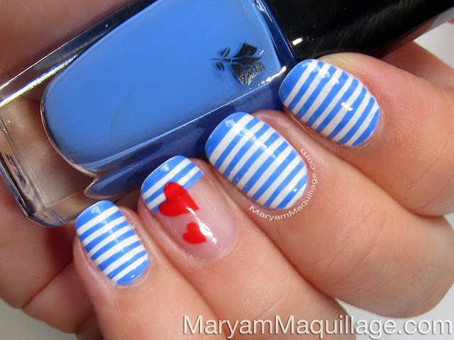 Stripes Nail Design Tutorial Alldaychic