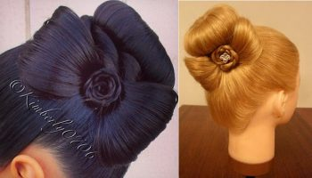 Elegant Bun Decorated with a Cute Bow – DIY