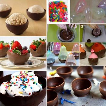 How To Make Chocolate Bowls Using Balloons