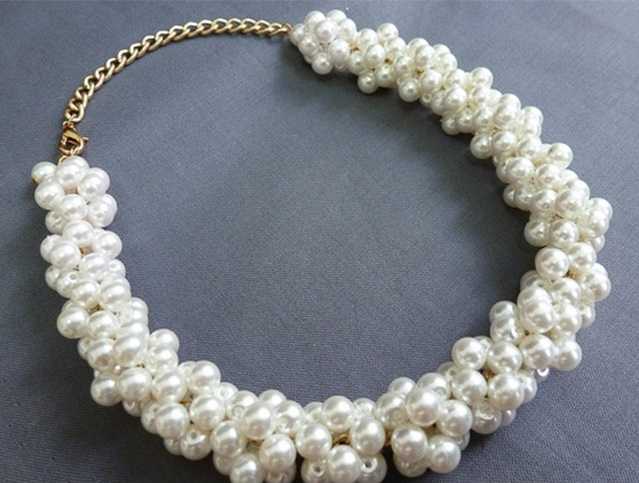 Pearl Beads Necklace - DIY (2)