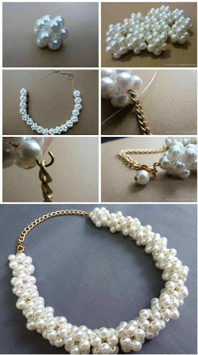 Pearl Beads Necklace - DIY (3)