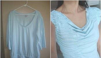 Stylish T-shirt made from a blouse – DIY