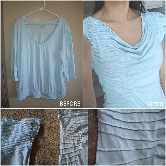 Stylish T-shirt made from a blouse - DIY