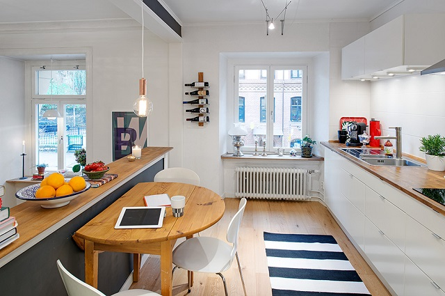 Charming swedish apartment design alldaychic for Swedish home design