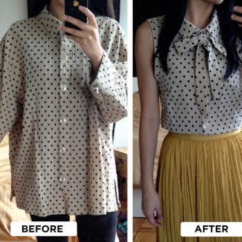 Turn a Large Old Shirt into a Chic Blouse – DIY (8)