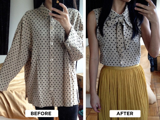 Turn an Old Shirt into a Chic Blouse - DIY - AllDayChic