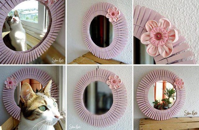 cute ornaments using pegs
